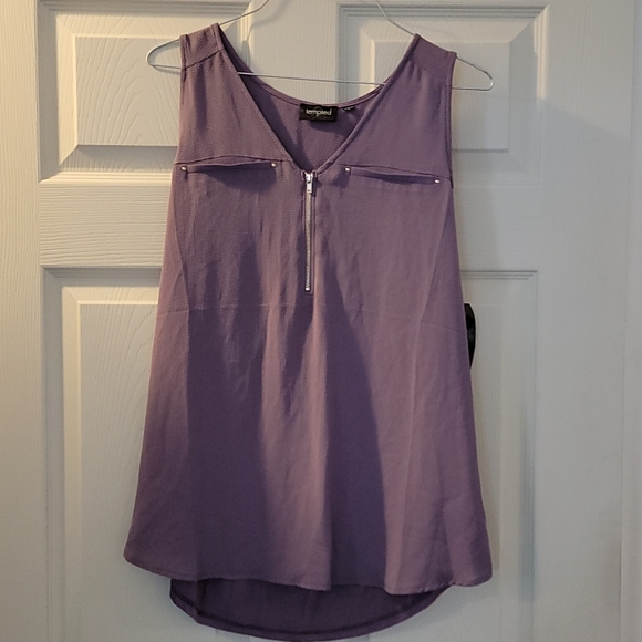 NWT Lavender/Lilac Sleeveless Top, Large